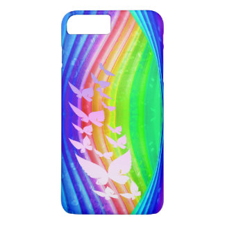 Butterflies on Rainbow Colored Design iPhone 7 Plus Case