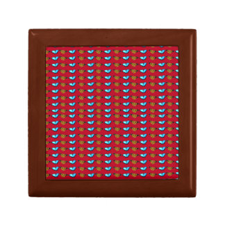 Butterflies on Red Small Square Gift Box