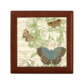 Butterflies on Sheet Music with Floral Design Gift Box