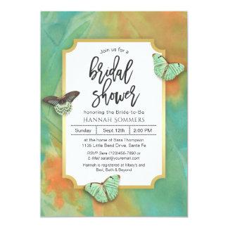 Butterflies on Southwest Colors Bridal Shower Card
