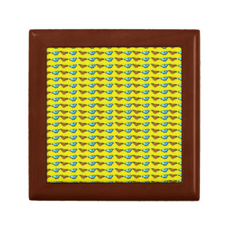 Butterflies on Yellow Small Square Gift Box