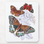 Butterflies - Orange and Brown Mouse Mats