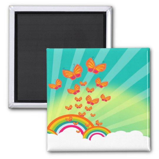 Butterflies Over The Rainbows Magnet