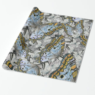 Butterflies pattern wrapping paper