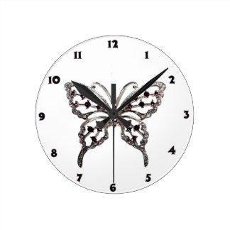 Butterflies Round Clock