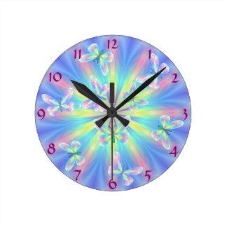 Butterflies round the clock! wall clocks