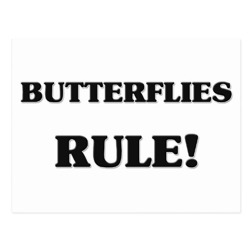 Butterflies Rule Post Card