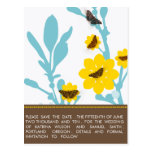 Butterflies -Save the Date cards Postcards