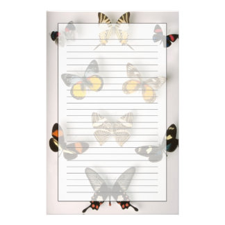 Butterflies scattered stationery