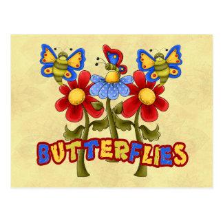 Butterflies - Schmetterlinge Post Card