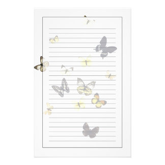 Butterflies shot on white stationery