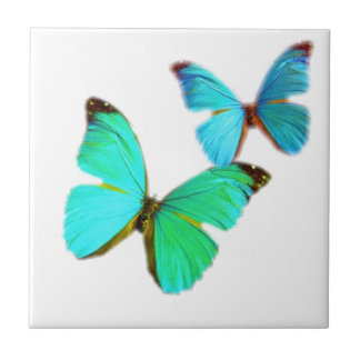 butterflies! small square tile