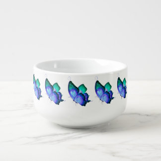 Butterflies Soup Bowl With Handle