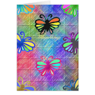Butterflies Thinking Of You... Stationery Note Card