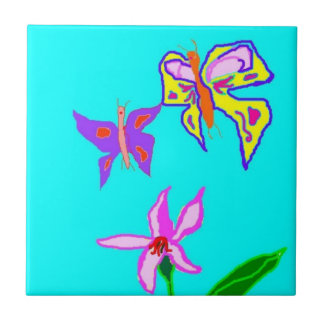 Butterflies Small Square Tile