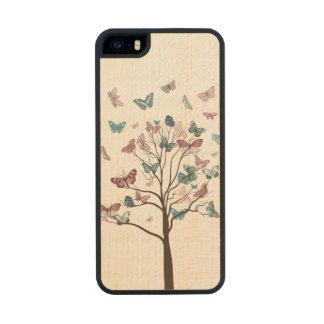 Butterflies Tree Carved® Maple iPhone 5 Slim Case