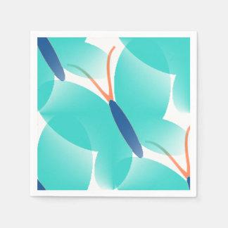 Butterflies-Turquoise-Multi--Choices Disposable Serviettes