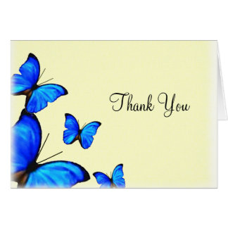 Butterflies Wedding Thank You card