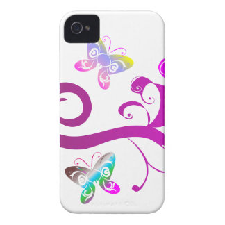 butterflies wings spring pink purple wing pattern iPhone 4 Case-Mate case