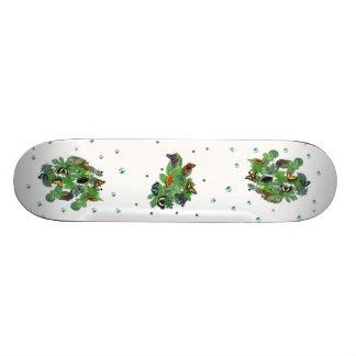 Butterflies with sheets, rain drop, beads 21.6 cm skateboard deck