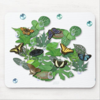 Butterflies with sheets, rain drop, beads mousepads