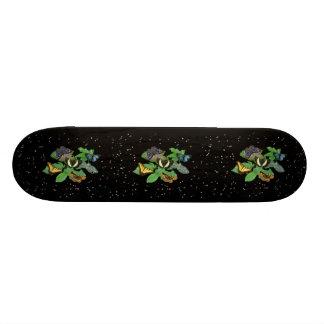 Butterflies with sheets rain drop stars skateboard deck
