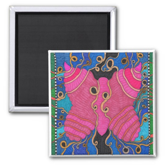 Butterfly1 Square Magnet