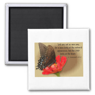 butterfly-1 square magnet