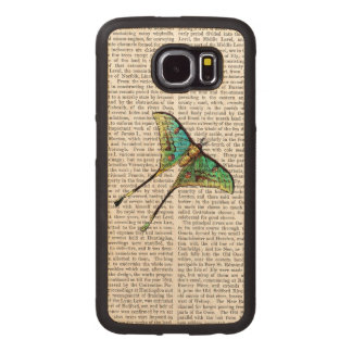 Butterfly 2 wood phone case