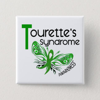 Butterfly 3.1 Tourette's Syndrome 15 Cm Square Badge