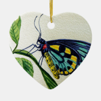 Butterfly 3 Garden Watercolor Painting Art Christmas Tree Ornament