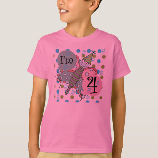 Butterfly 4th Birthday T-Shirt