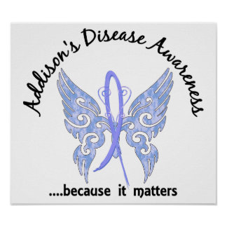 Butterfly 6.1 Addison's Disease Poster