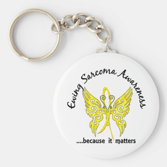 Butterfly 6.1 Ewing Sarcoma Basic Round Button Key Ring