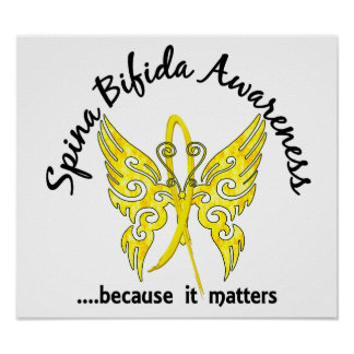 Butterfly 6.1 Spina Bifida Poster
