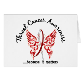 Butterfly 6.1 Throat Cancer Greeting Card