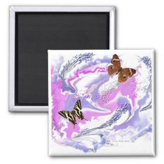Butterfly abstract fridge magnet