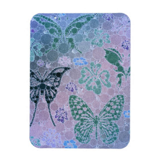 Butterfly Abstract Rectangular Photo Magnet