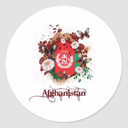 Butterfly Afghanistan Sticker