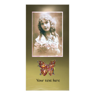 BUTTERFLY AGATE ,red grey Photo Card