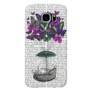 Butterfly Airship 2 Purple and Green Samsung Galaxy S6 Cases