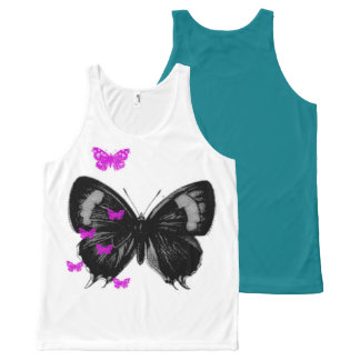 butterfly All-Over print tank top