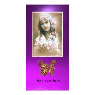 BUTTERFLY AMETHYST PURPLE ,red Picture Card