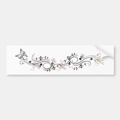 Butterfly and blooms bumper stickers