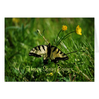 Butterfly and Buttercups Spring Equinox Card