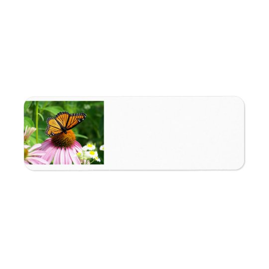Butterfly and Cone Flower Return Address Label