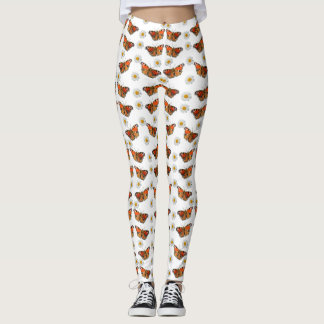 Butterfly and Daisy Floral Lady's Leggings