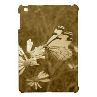 Butterfly and Daisy in Sepia iPad Mini Cases