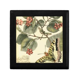 Butterfly and Dragonfly with Red Flowers Jewelry Box