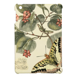 Butterfly and Dragonfly with Red Flowers iPad Mini Cover